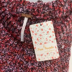 Free People Sweaters - Free People Red Knit Sweater Size XS